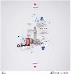 """Flore : Tampons & matrices de coupe (dies) #4enscrap """"London"""" Tower Of London, Royal Palace, Tampons, Tower Bridge, Mini Albums, Collage, Paris, Card Kit, Universe"""