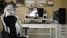 White & Black Minimalistic Gaming Setup