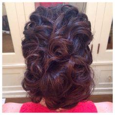 Updo, curls, romantic hair, wedding hair, bridesmaid hair,