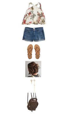 """""""Untitled #4361"""" by twerkinonmaz ❤ liked on Polyvore featuring River Island, J.Crew, Billabong, Xiao Wang and Louis Vuitton"""