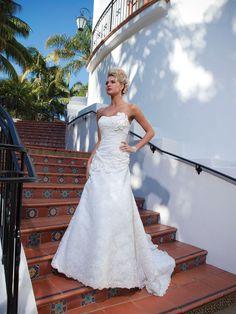 A-line wedding dress with flowers