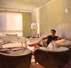 "Saatchi Art Artist Marco Ortolan; Painting, ""In the Living Room"" #art"