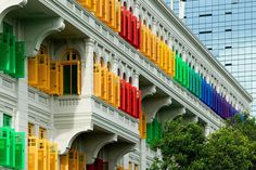 The most colorful cities in the world.  MITA Building, Singapore