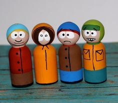 South Park Peg Set for the guy who has everything else already.