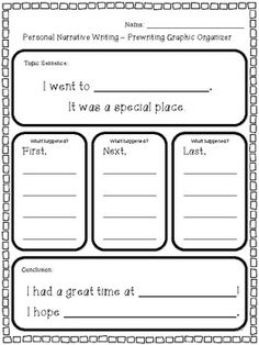 This personal narrative writing unit includes two complete writing projects! 1st and 2nd graders will enjoy writing about going to a special place and a special day they have had.