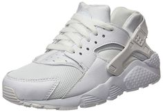 buy online f835b 794a2 nike huarache run (GS) trainers 654275 sneakers shoes B(M) US, wolf grey  black electric green white
