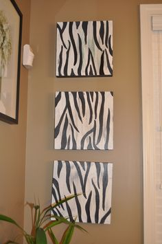 Zebra pics for 1/2 bathroom