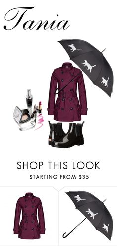 """neceser"" by estilo-taniaa on Polyvore featuring moda, Burberry y Hunter"