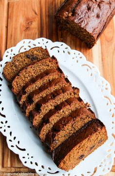 Spiced Pumpkin Spelt Oat Quick Bread Recipe ~ http://jeanetteshealthyliving.com