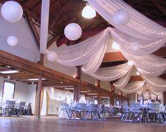 Ceiling Decor For A Wedding Reception Decorations