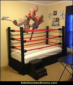 John Cena wall decal-Wrestling theme bedroom decor and wrestling theme decorating ideas