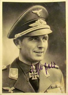 ✠ Geschwaderkommodore Herbert Ihlefeld (1 June 1914 – 8 August 1995), Wing Commander of the famed Jagdgeschwader 52 (JG 52—52nd Fighter Wing). Recipient of the Knight's Cross of the Iron Cross with Oak Leaves and Swords. He claimed 132 enemy aircraft; nine in the Spanish Civil War, 67 on the Eastern Front, and 56 on the Western Front, including 26 Spitfires. He survived being shot down 8 times.