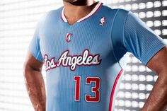 adidas los angeles clippers back in blue sleeves uniform helmetgame 7 687x458 Los Angeles Clippers Unveil Back in Blue Pride Uniform