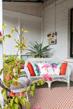 Eclectic Porch by Twinkle and Whistle