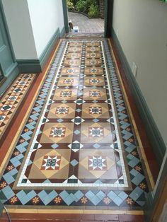 Victorian geometric tile floor