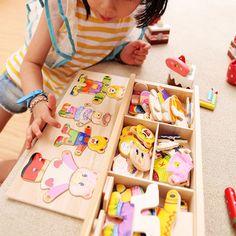 Brinquedos Tamiya Baby Bear Change Clothes Puzzle