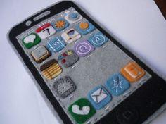 felt phone case too cute!