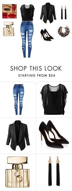 """""""relaxing"""" by nihadniks ❤ liked on Polyvore featuring WithChic, Jupe de Abby, Monsoon, Gucci and Yves Saint Laurent"""