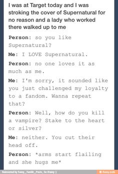 Son if a bitch. I actually  know more supernatural than u lol