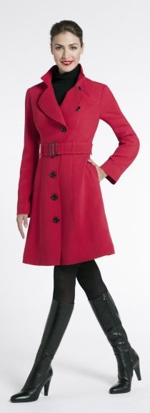 Belted Crepe Trench at Jacob Scarborough Town Centre. #coat #pink