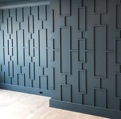 And our new favorite space of this project is.the dining room! Definitely edgy and not for everyone, but we are loving it. Accent Wall Bedroom, Bedroom Decor, Accent Walls, Grey Walls, Decor Room, Master Bedroom, Wall Decor, Deco Design, Wall Design