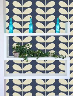 laundry room Orla Kiely Giant Stem Wallpaper - 110393 Improve Your Home Through Acoustical Engineeri Feature Wallpaper, Room Wallpaper, My Ideal Home, Fashion Wallpaper, Double Glazed Window, Orla Kiely, Art And Technology, Sound Proofing, State Art