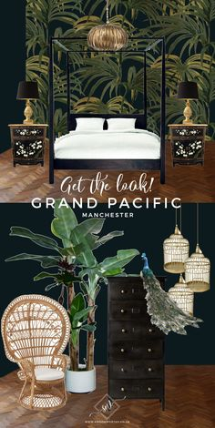 Get the Look: A Visit to the Eclectic Glam Grand Pacific, Manchester - Swoon Worthy - Grand Pacific Get The Look - Colonial Tropical Southeast Asian design moodboard Interior Tropical, Tropical Home Decor, Asian Home Decor, Tropical Houses, Tropical Furniture, Asian Inspired Decor, Asian Bedroom Decor, Estilo Tropical, Tropical Style