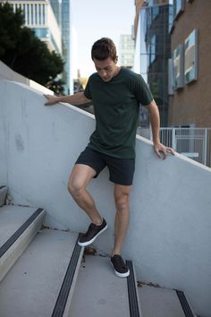 Weekend Style | Non-Stop Shorts | Cobba launch collection | Men's fashion | Men's shorts | Urban men | City life | Urban living | Gym shorts | Everyday Shorts | Manson Black | Kickstarter