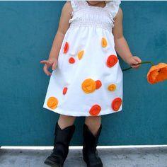 Orange Poppy Dress Pattern | AllFreeHolidayCrafts.com