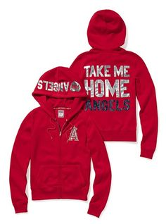 Los Angeles Angels Bling Zip Hoodie - Victoria's Secret Pink® - Victoria's Secret