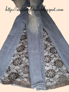 Cut Jeans to Make a Wider Leg   Sewing, Bell bottoms and Clothes