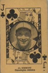 1927 Playing Cards (W560) #20 Al Simmons Front