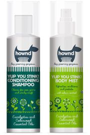 Hownd smelly dog grooming spray and shampoo