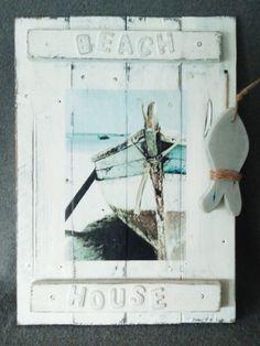 Beach House: Deco-bord (groot) | Karin's Deco Atelier