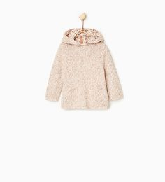 Image 1 of Sweater with lined hood from Zara