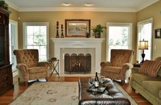 Benjamin Moore: Decatur Buff on the walls. Love the furniture, the colors, the trim. All of it! 11182014