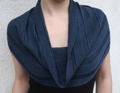 Shoulder scarf -- a clever way to make a tank top look appropriate for work -- also mimic the neckline of my favorite cowl-neck sweater from Talbot's