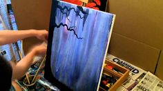 """Acrylic Speed Painting """"Warm Pasts, Cold Futures"""""""
