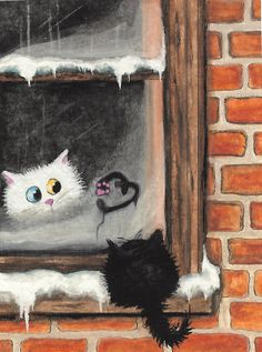 No Words Needed by AmyLyn Bihrle. #art #cute #cats