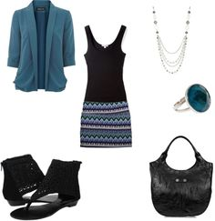 """Skirt and Cardigan"" by mrscosentino on Polyvore"
