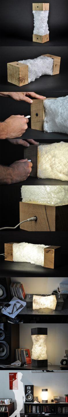 Chrysalide par Paulin Giret Light Art, Lamp Light, Cool Lighting, Lighting Design, Diy Lampe, Lampe Applique, Luminaire Led, Creative Lamps, Light Well