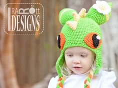CROCHET PATTERN Dragonfly Monster Dragon Hat by IRAROTTpatterns, $6.50