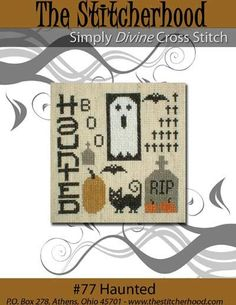 PDF E pattern emailed Primitive Halloween Ghost by stitcherhood