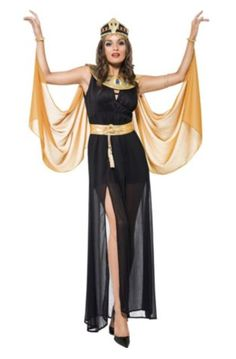Sexy Women's Queen of the Nile Costume...  The Sexy Women's Queen of the Nile Costume features the classic look of the Ancient Egypt theme that's perfect for Halloween parties and costume parties throughout the year.  #teelieturner #halloween #anytimecostumes