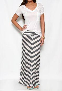 Capecod Canyon Maxi Skirt
