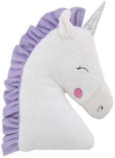 NoJo Little Love by Unicorn Shaped Plush Sherpa Decorative Pillow - White, Lilac, Silver Kids Pillows, Throw Pillows, Unicorn Pillow, Stuffed Toys Patterns, Baby Shop, Decorative Pillows, Sewing Projects, Plush, Shapes