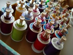 A few years ago I was looking for a way to store my ever expanding thread collection, and the bobbins. Some of the colors were so close t...