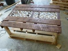 Beautiful Design Pallet Wood Coffee Table   99 Pallets
