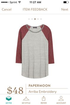 Papermoon Arriba Embroidery Neckline Raglan Knit Top. I love Stitch Fix! A personalized styling service and it's amazing!! Simply fill out a style profile with sizing and preferences. Then your very own stylist selects 5 pieces to send to you to try out at home. Keep what you love and return what you don't. Only a $20 fee which is also applied to anything you keep. Plus, if you keep all 5 pieces you get 25% off! Free shipping both ways. Schedule your first fix using the link below…
