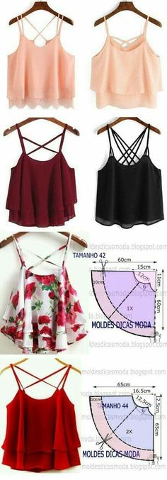 Ideas Sewing Patterns Tops Diy For 2019 Simple Outfits, Simple Dresses, Diy Outfits, Diy Simple Dress, Blouse Simple, Fashion Sewing, Diy Fashion, Fashion Top, Work Fashion